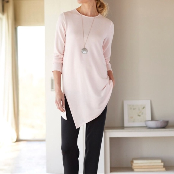 516050ef38d J. Jill Tops - J Jill Luxe Tencel Pink Asymmetrical Tunic Size XL